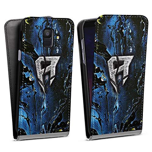 DeinDesign Flip Case kompatibel mit Samsung Galaxy A6 (2018) Tasche Hülle ApoRed Merchandise Logo