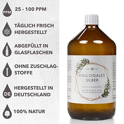 Kolloidales Silber/Silberwasser (50-100 ppm) von Nordic Pure (250ml | 100 PPM) - 2
