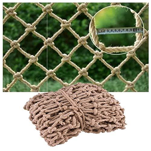 shh Children Safety Net, Kids Balcony Protection Net Fence Decor Climbing Woven Rope Truck Cargo Trailer Netting Hammock Treehouse Pets (Size : 2 * 6m(7 * 20ft))