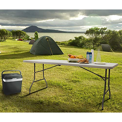 SA Products Heavy Duty Plastic 6ft 1.8m Outdoor Folding Trestle Table Work Top - Portable, Compact & Foldable for Easy Storage - Ideal for Picnic, Garden, Patio, Catering, BBQ, Party, Market