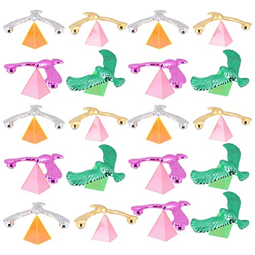 Blacgic 20 Pieces Balance Birds Gravity, Plastic Balancing Bird Toys, Balancing Eagles, Stress Relief Finger Toys, for Kids