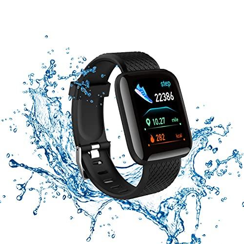 Smartwatch,Pulsera de Actividad física,Reloj Inteligente con Oxígeno Sanguíneo Presión Arterial Frecuencia Cardíaca, Cronómetros,Calorías,Monitor de Sueño,Podómetro Monitores de Actividad