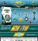 LEMON TREE SL Bursttop Force Juguete Estilo Beyblade Spinning Top con Lanzador Bley Blade. Peonza Batalla Superior. B-148 Color Verde
