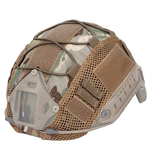 ATAIRSOFT Telo tattico Airsoft Paintball Militare Caccia Casco Copertura Panno di Nylon per caschi veloci BJ/PJ/MH (MC)