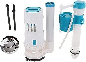 Cistern Toilet Repair Replacement Kits Fill Valve Flush Valve Dual Type Flush Button Set - A