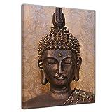 Bilderdepot24 Bild auf Leinwand   Buddha I in 40x50 cm als