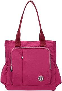 DAIFINEY Damen Retro Mode Große Kapazität Nylon Taschen Tragetaschen Segeltuch Blume Handtaschen Umhängetasche Henkeltaschen Schultasche Shopper