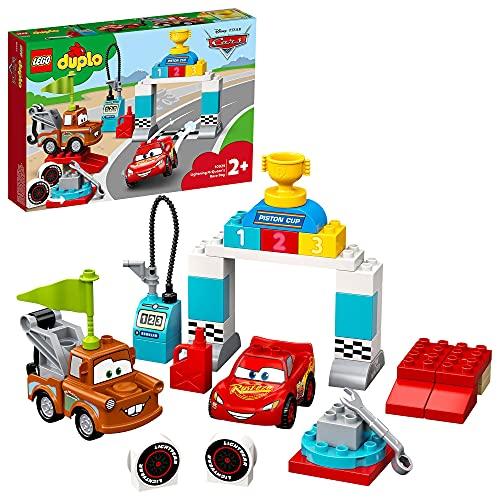LEGO 10924 Duplo Cars de Disney y Pixar: Día de la Carrera de Rayo Mcqueen, Coches de Juguetes para Bebes 2+ años