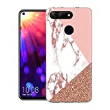 ZhuoFan Honor View 20 Case, Phone Case Clear with Marble