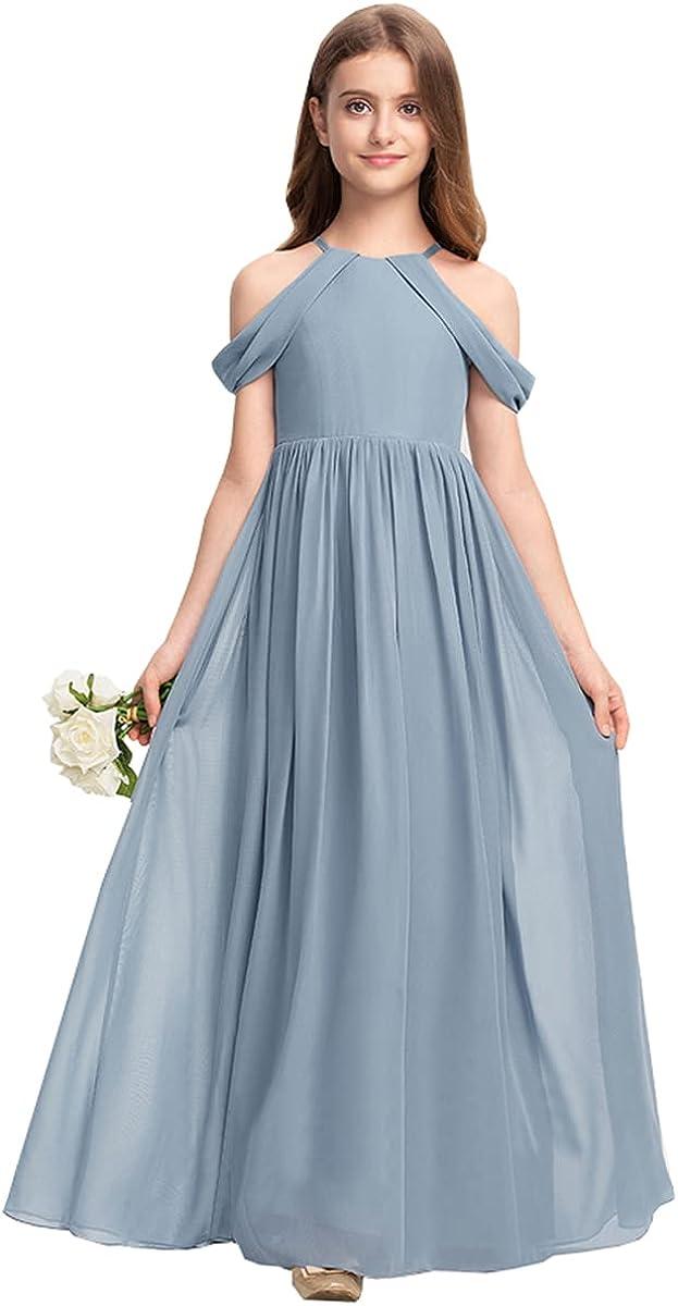 M_RAC Off-Shoulder Junior Bridesmaid Long Flower Dresses Max 54% OFF Wedding Max 40% OFF