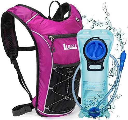 Hydration Backpack with 2L BPA Free Water Bladder Lightweight Pack for Running Hiking Riding product image