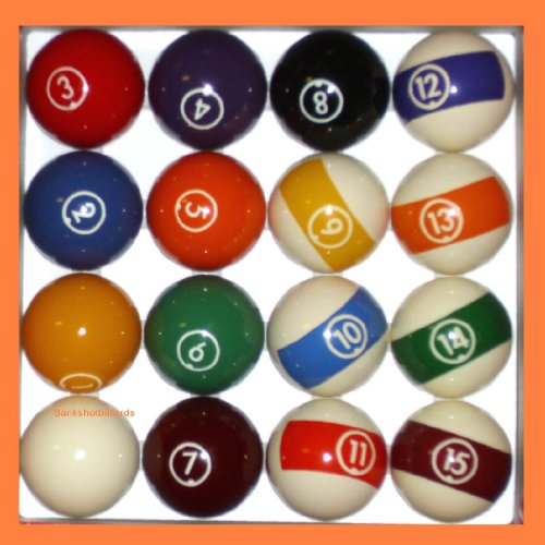 BC Precision Aramith Continental 2 1/4' Billiard regolamento Pool Ball set/16 Palle