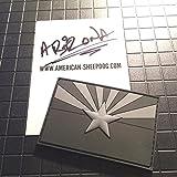 American Sheepdog Arizona State Flag PVC Patch - Ghost Edition
