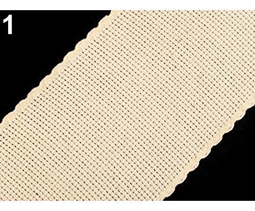1m Naturfarbe Hell Stickband Breite 75mm, Aidabänder, Stoffe Zum Besticken Und Stickrahmen, Kurzwaren