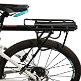 ROCKBROS Portaequipajes Trasero para Bicicleta Carga Máx 50KG con Liberación Rápida con Reflector Portabultos para MTB