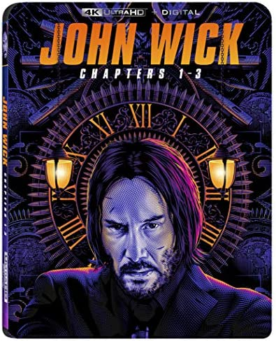 John Wick Chapters 1 3 4K Digital Blu ray product image