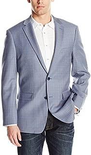 Men's Two Button Modern Fit Glen Plaid Blazer