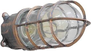 【WNJAPAN】 マリンランプ カプセルランプ 船舶 工業照明 壁掛け照明 ブラケットライト ヴィンテージ (MR-03 黒金)