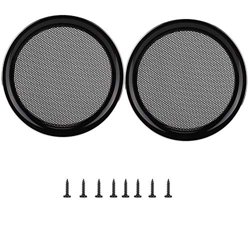Autoluidsprekerhoes, 2PCS 5 inch Mesh beschermhoes Cirkel Subwoofer Grill Cover Luidspreker Luidspreker Cover Decoratie