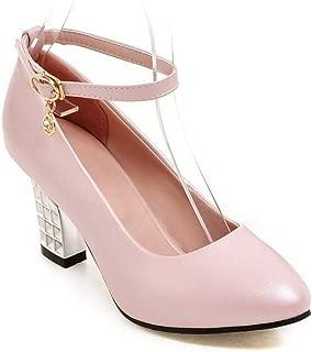 BalaMasa Womens APL12386 Pu Heeled Sandals