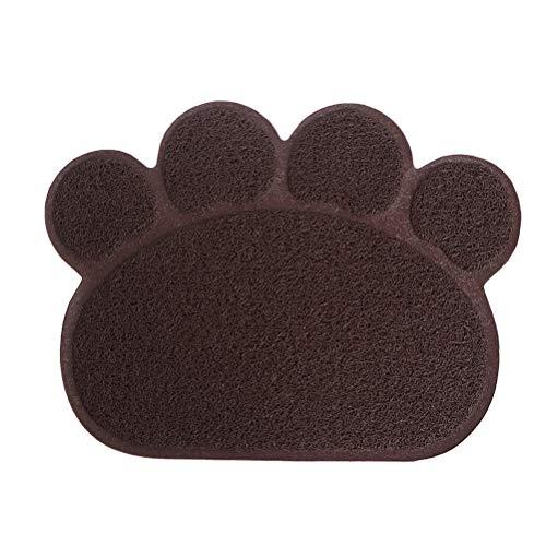 FDSIOXKF Alfombrilla de arena para gatos con forma de canina, 30 x 40 cm, impermeable, antideslizante