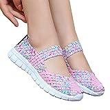 Fishyu Mujer Slip-On Light Weight Elástico Zapatillas Sports Agua Zapatos Zapatillas Sneakers Verano - Colorido Fucsia, 38