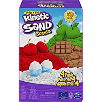 4-Pack Kinetic Sand Scents 32oz (Cherry, Apple, Chocolate and Vanilla Scented)