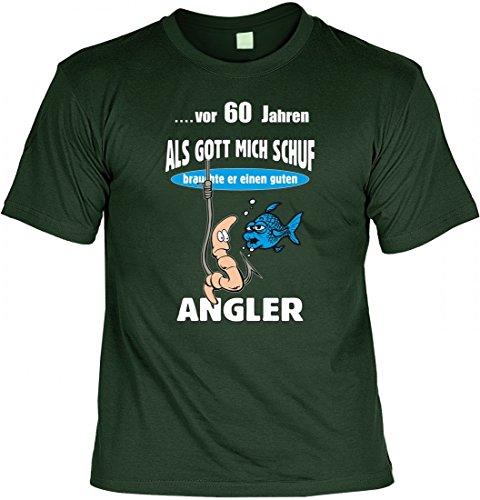 Lustiges T-Shirt zum 60. Geburtstag für Angler - Geschenk Idee, Größe:XL