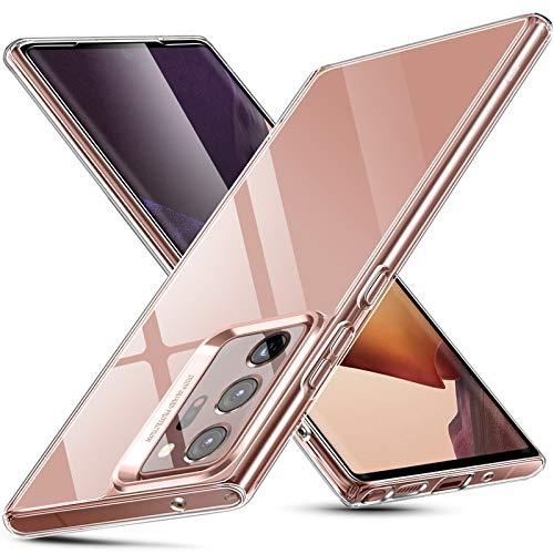 ESR Klare Glas Hülle für Samsung Galaxy Note 20 Ultra [Transparente Panzerglas Rückseite] [Flexibler TPU Rahmen] – Durchsichtig Klar