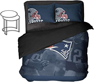 American Football Player Number 12 Bed Set Fox Fort Bedding Duvet Cover King Sports Sheet Sets Bed Queen 3pcs Full Twin (K...