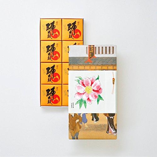 お菓子の香梅 誉の陣太鼓 8個入 肥後六花オリジナルのし紙 【肥後芍薬】 スイーツ 620g