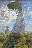 1art1 52143 Claude Monet - Frau Mit Sonnenschirm, Madame Monet Mit Ihrem Sohn, 1875 Selbstklebende Fototapete Poster-Tapete 180 x 120 cm
