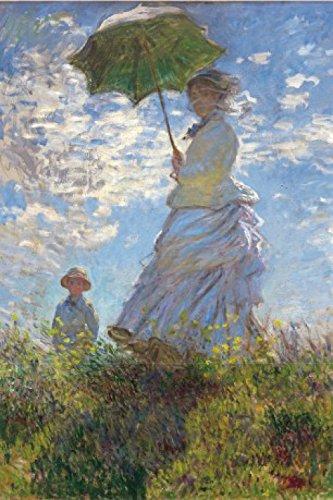 1art1 Claude Monet - Frau Mit Sonnenschirm, Madame Monet Mit Ihrem Sohn, 1875 Selbstklebende Fototapete Poster-Tapete 180 x 120 cm