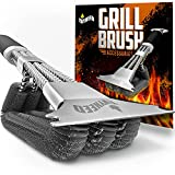 EVYNEED 3 in 1 Stainless Steel Grill Brush & Scraper Tool with Non Slip Handle – Heavy Duty Grill Cleaner, Degreaser, Bottle Opener – Durable Cleaning Tool for Outdoor Grill, Indoor Grill, Gas Grill