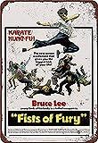Kung Fu Brothers - Placa de metal nostálgico para decoración de pared, diseño clásico, regalo creativo perfecto para colgar 20 x 30 cm