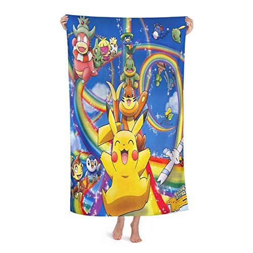 Pokemon Ultra-Light Microfiber Beach Towels, Bath Towels, Swimming Towels, Absorbent Swimming, Camping, Fitness, Yoga Mats, Blankets Bath Towel