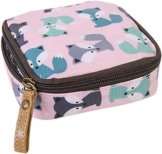 Yunzee女性の大容量収納袋防水ジッパー生理用ナプキンバッグ化粧品袋コインバッグ、印刷アヒル、綿