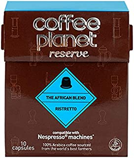 Coffee Planet Reserve The African Blend Ristretto Coffee 10 Capsules 50 g