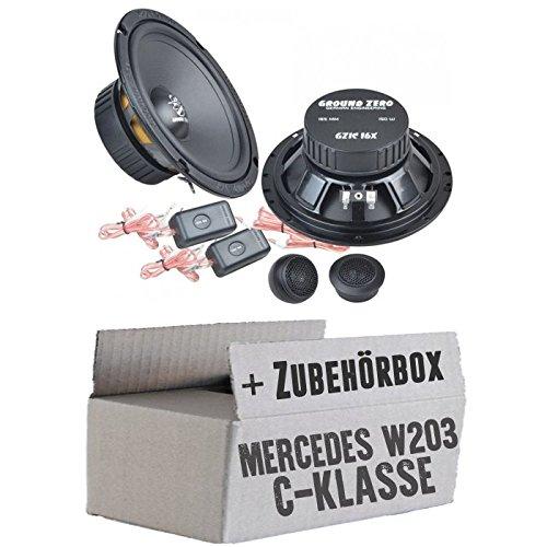 Ground Zero GZIC 16X - 16cm Lautsprecher System - Einbauset für Mercedes C-Klasse JUST SOUND best choice for caraudio