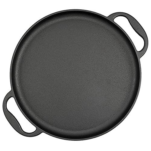BBQ-Toro Servierpfanne | Ø 35 cm - rund | Gusseisen Grillpfanne, Grillplatte, Plancha