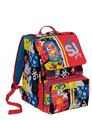 Zaino scuola sdoppiabile SJ GANG - HIGH TECH - Blu Rosso - INNOVATIVO sistema regolazione schienale - 28 LT elementari e medie 3