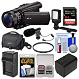 Sony Handycam FDR-AX100 Wi-Fi 4K HD Video Camera Camcorder with 64GB...