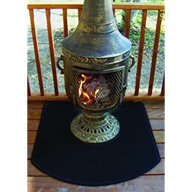 The Blue Rooster Co. Flexible Fire Resistent Chiminea Pad 36  - Half Round
