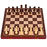 HIZLJJ Chess Set Chess in Wooden,Chess Set - Fold Away Wooden Board Game Quality Handmade Wooden Chess Pieces,Tournament Chess Sets for Adults and Students