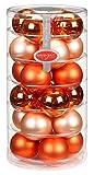 24 Christbaumkugeln GLAS 6cm Jolly Spirit ( orange ) // Weihnachtskugeln Baumkugeln Baumschmuck...