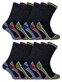 Sock Snob 3, 6, 12 Pares Hombre Mujer Unisex Respirables Senderismo Bambú Cortos Calcetines de Trabajo para Botas Seguridad (39-45 EU, BWS 12 Pairs)