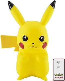 Teknofun- Pikachu 3D Pokemon Lampe LED télécommandée, 811372, Yellow