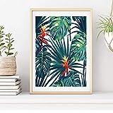 Láminas para decorar la casa. Cuadro tropical naturaleza decoración hogar. Impresión de calidad. Papel de 250Gr. Tamaño A4 (A4)