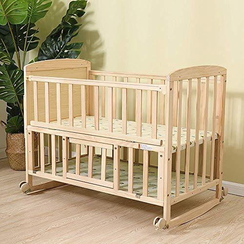 WYJW Bcb Massivholzbett, Baby-Kinderbett mit Moskitonetz, Etagenbett Umwandelbar auf Schreibtisch Geeignet für 0-3 Jahre altes Baby