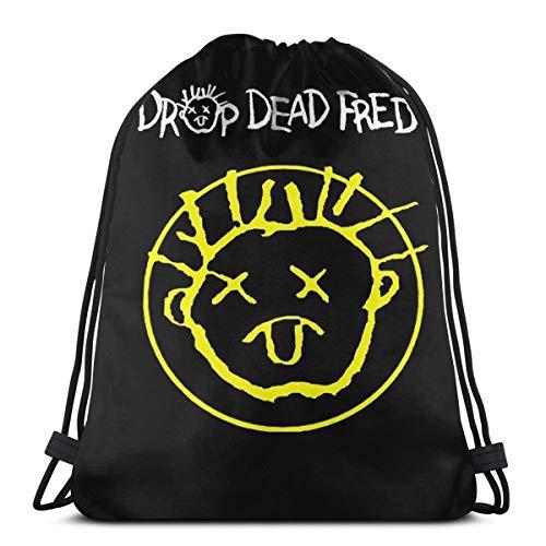 Drop Dead Fred Smiley Face Drawstring Bag Sports Ness Bag Travel Bag Gift Bag